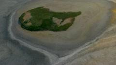 Flight over salt lake HD Stock Footage