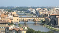 The Ponte Vecchio in Florence - stock footage