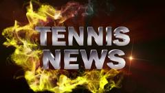Tennis News Red, with Alpha Channel - HD1080 Stock Footage