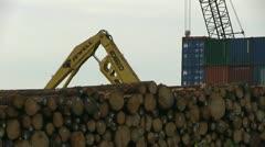 Logging, lumberyard Stock Footage