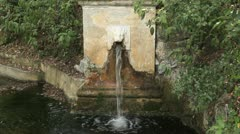A fountain the Bardini gardens of Florence. Stock Footage