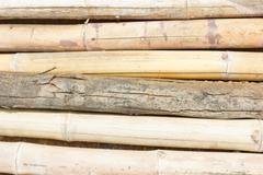 Old bamboo sticks Stock Photos
