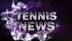 Tennis News Blue, with Alpha Channel - HD1080 Stock Footage