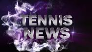 Stock Video Footage of Tennis News Blue, with Alpha Channel - HD1080