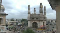 Charminar- Hyderabad Stock Footage