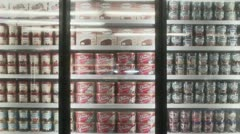 Freezers filled with ice cream Stock Footage