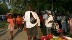 Caribana Festival Crowd Walking Stock Footage
