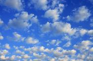 Stock Photo of Scattered cumulus clouds