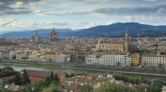 The beautiful Tuscan city of Florence - stock footage