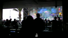 Stage of an electronic music festival Stock Footage