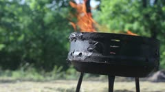 Barbecue apparatus Stock Footage
