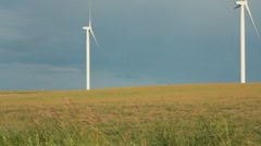 Windmills turning (HD) c Stock Footage