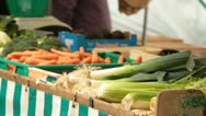 Vegetable market in France (HD) c Stock Footage
