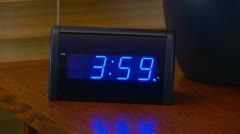 Alarm clock going off at 4 AM - stock footage