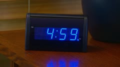 Alarm clock going off at 5 AM Stock Footage