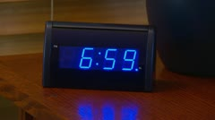 Alarm clock going off at 7 AM - stock footage
