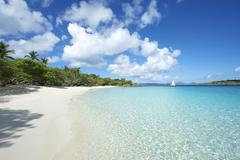 Paradise Caribbean Beach Virgin Islands Horizontal Stock Photos