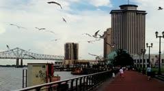 New Orleans Riverwalk 2612 Stock Footage