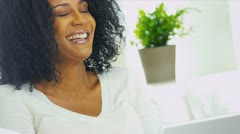 African American Female Social Networking Stock Footage