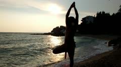 Yoga position Stock Footage