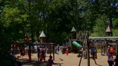 Cinematic Childrens Playground Stock Footage