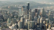 Stock Video Footage of Downtown Buildings and Skyscrapers in Seattle, Washngton - Aerial