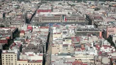 Zocalo, Mexico City - stock footage