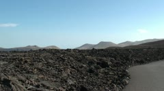 Lanzarote volcanic View Stock Footage