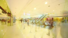 Shopping mall in HongKong. Timelapse Stock Footage