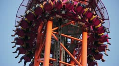 Amusement ride - stock footage