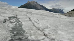 Melting water of the Root Glacier in Alaska on a summer day. Stock Footage