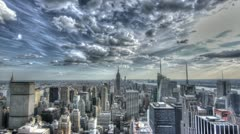 Manhattan New York City Timelapse Empire State Building Day to Night 4K HDR - stock footage