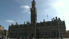 Bradford City Hall Stock Footage