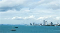 Pattaya Sea Timelapse Stock Footage