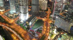 Stock Video Footage of Shanghai Nightscape Timelapse