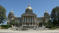 Stock Video Footage of Stock Footage - Iowa State Capital, sunny day, blue sky