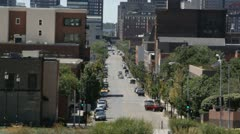 Stock Video Footage of Stock Footage - Light traffic on downtown streets - Des Moines, Iowa