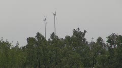 Wind Turbine  Green power generation Stock Footage