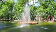 Sun fountain in petergof park St. Petersburg Russia - timelapse Stock Footage