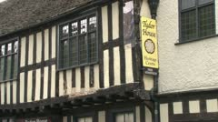 Worcester Tudor House Stock Footage