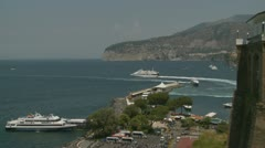 Santa Marinella (near Sorrento) port Stock Footage