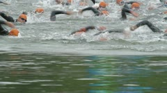 Triathlon nineteen Stock Footage