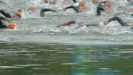 Stock Video Footage of triathlon nineteen