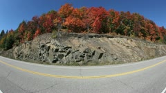 Fall Colors Highway Fisheye - stock footage
