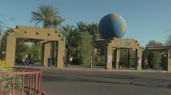 Phoenix Zoo Entrance - stock footage