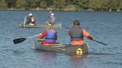 Boating on a lake Stock Footage