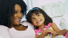 Single Mother Cute Pre School Child Stock Footage