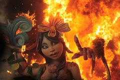 Burning of the Fallas - stock photo