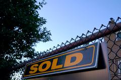 Real Estate Sold Sign - stock photo