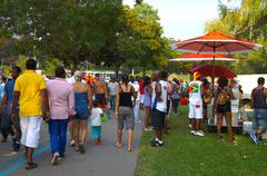 Toronto Caribana Festival Crowd - stock photo
